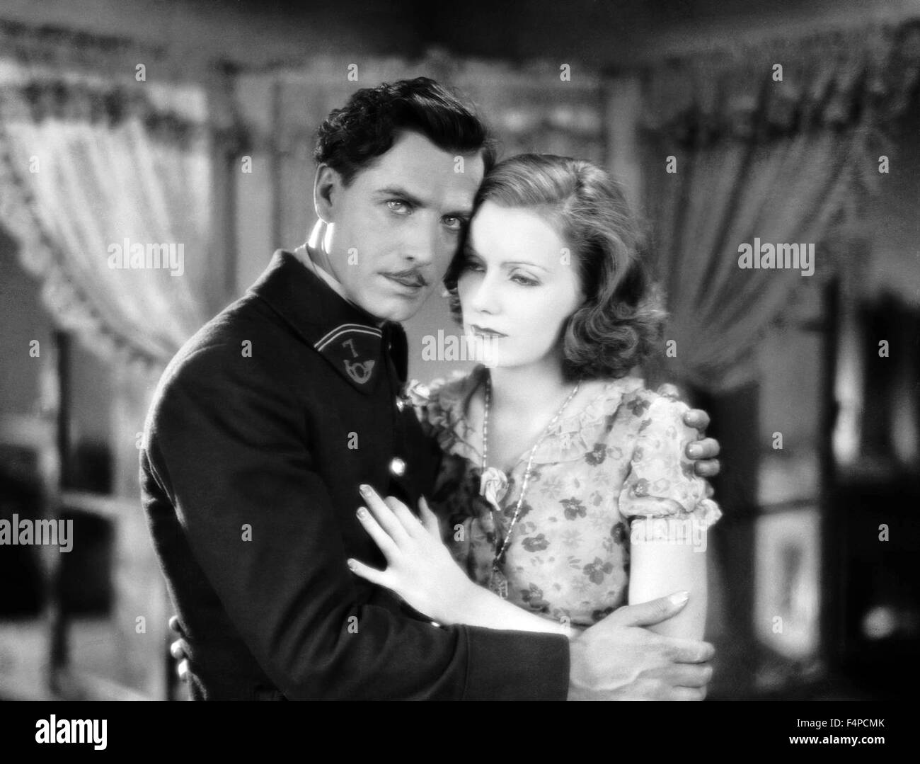 Lars Hanson, Greta Garbo / The Divine Woman 1928 directed by Victor Sjostrom - Stock Image
