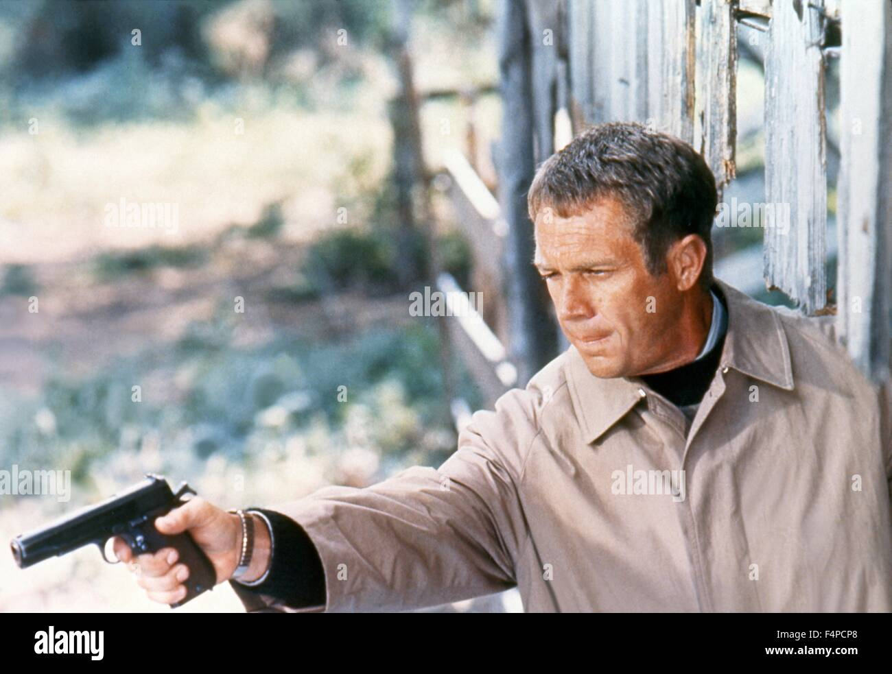 Steve McQueen / The Getaway 1972 directed by Sam Peckinpah - Stock Image