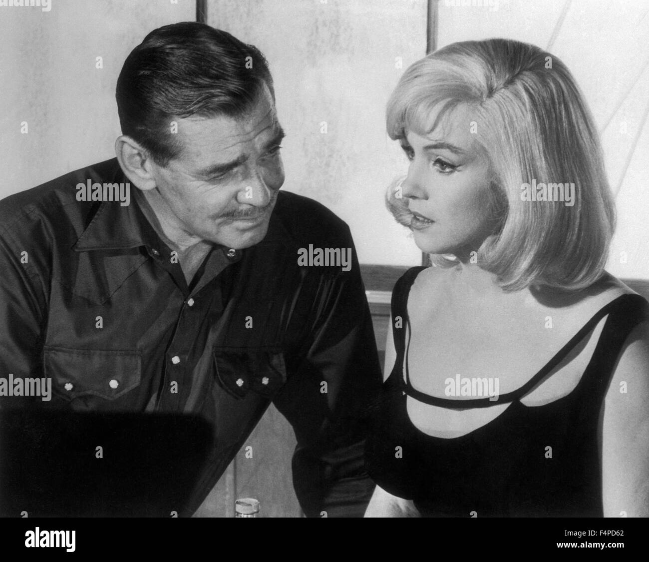 Clark Gable, Marilyn Monroe / The Misfits 1961 directed by John Huston - Stock Image