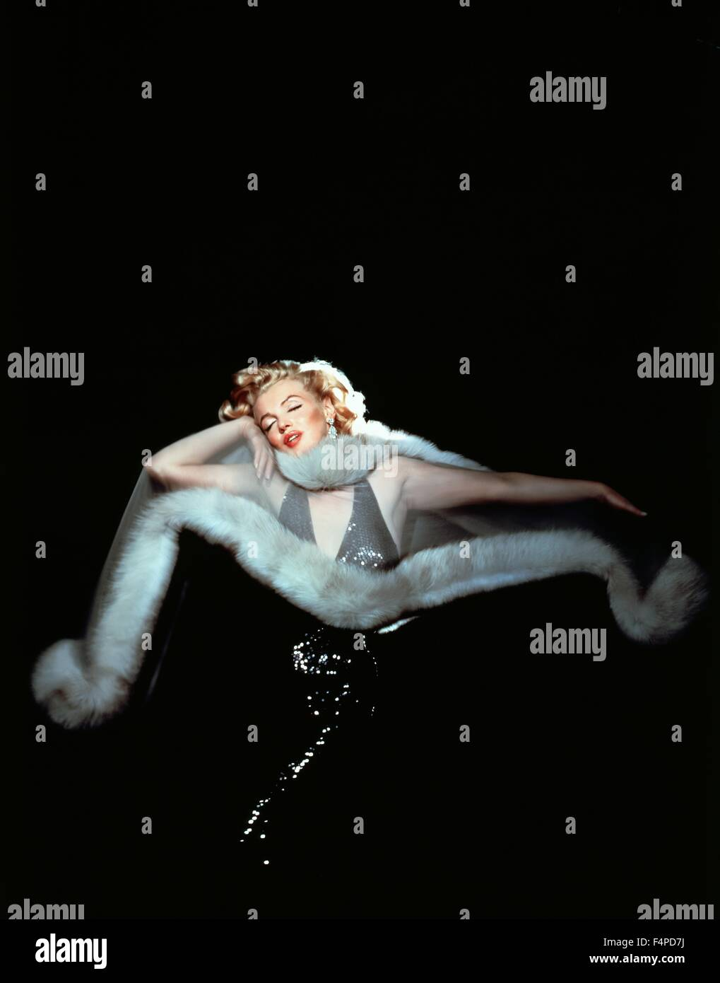 Marilyn Monroe / The Prince And The Showgirl 1957 directed by Laurence Olivier - Stock Image