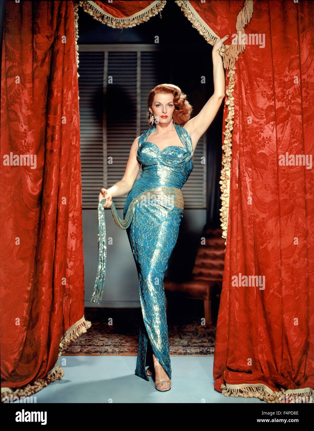 Jane Russell / The Revolt Of Mamie Stover 1956 directed by Raoul Walsh - Stock Image