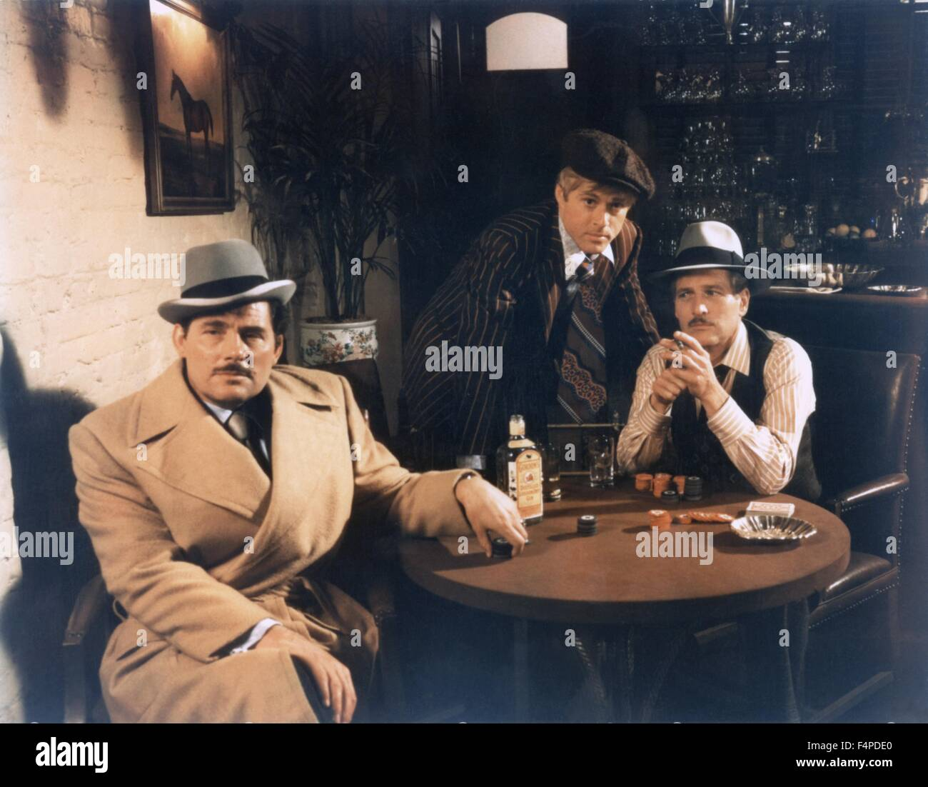 Robert Shaw, Robert Redford, Paul Newman / The Sting 1973 directed by George Roy Hill - Stock Image