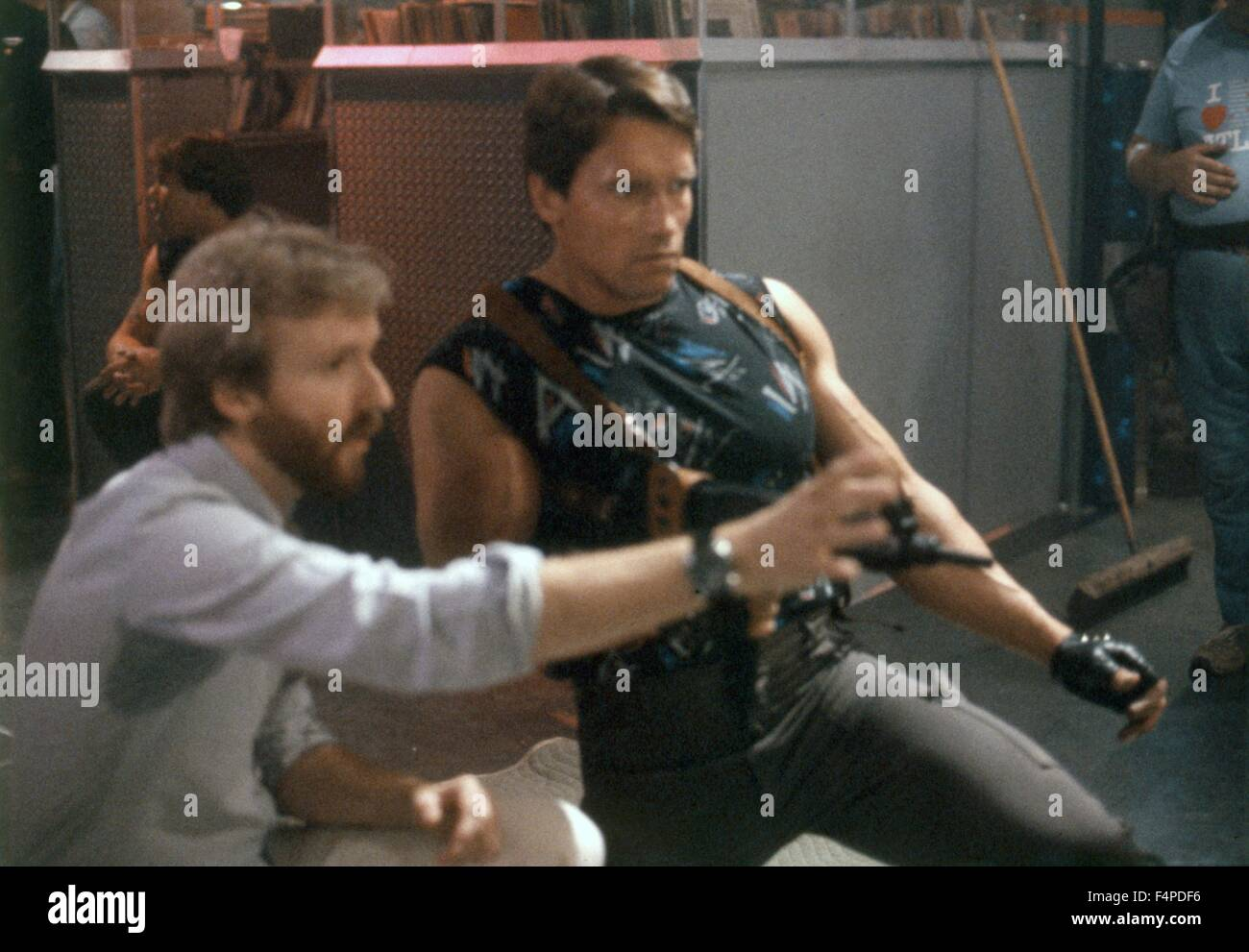 James Cameron, Arnold Schwarzenegger / The Terminator 1984 directed by James Cameron - Stock Image