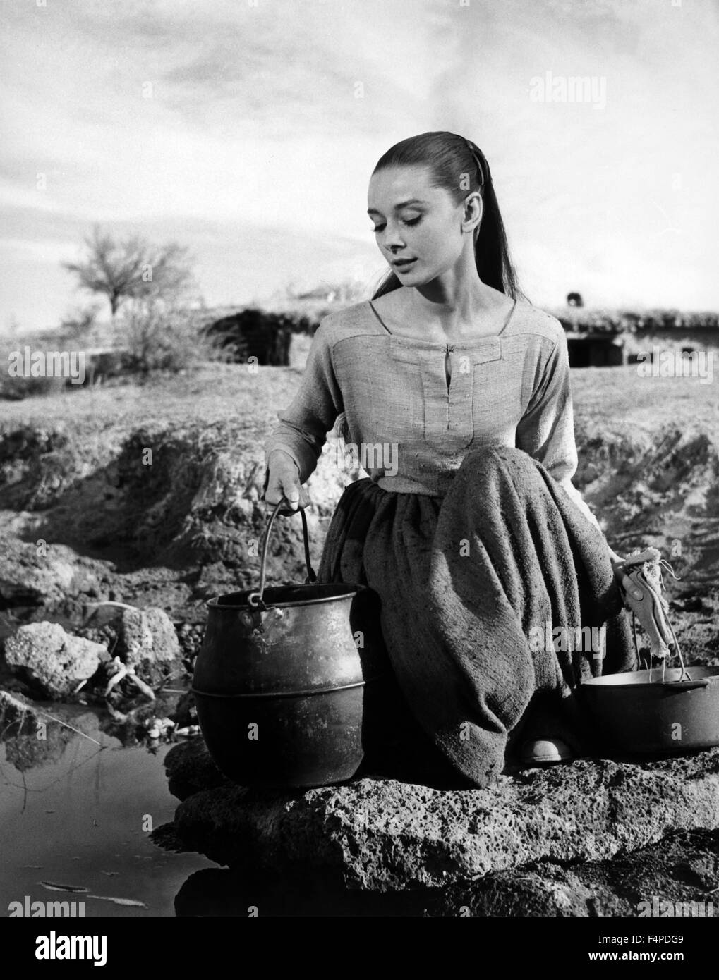 Audrey Hepburn / Unforgiven 1960 directed by John Huston - Stock Image