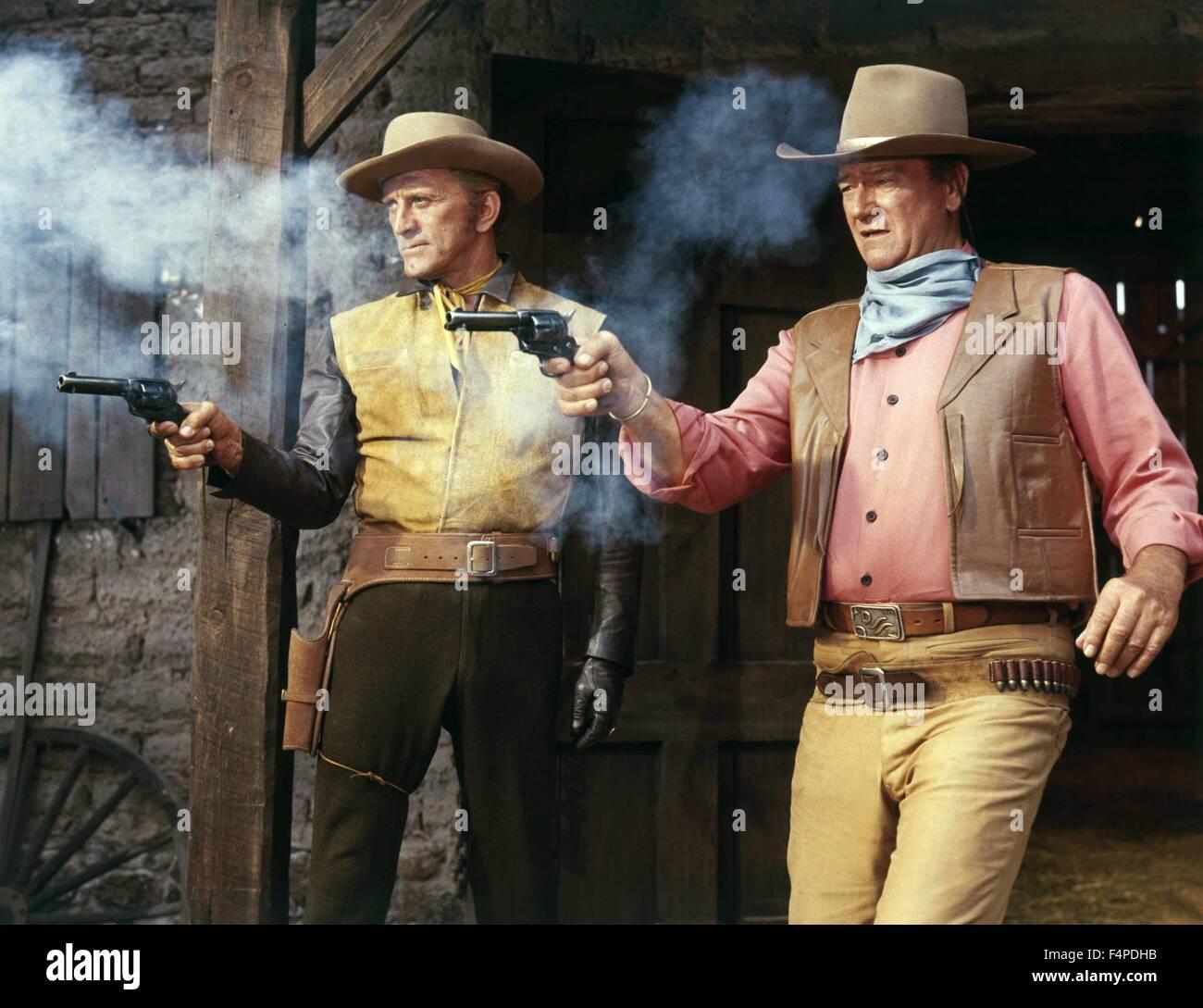 Kirk Douglas, John Wayne / The War Wagon 1967 directed by Burt Kennedy - Stock Image