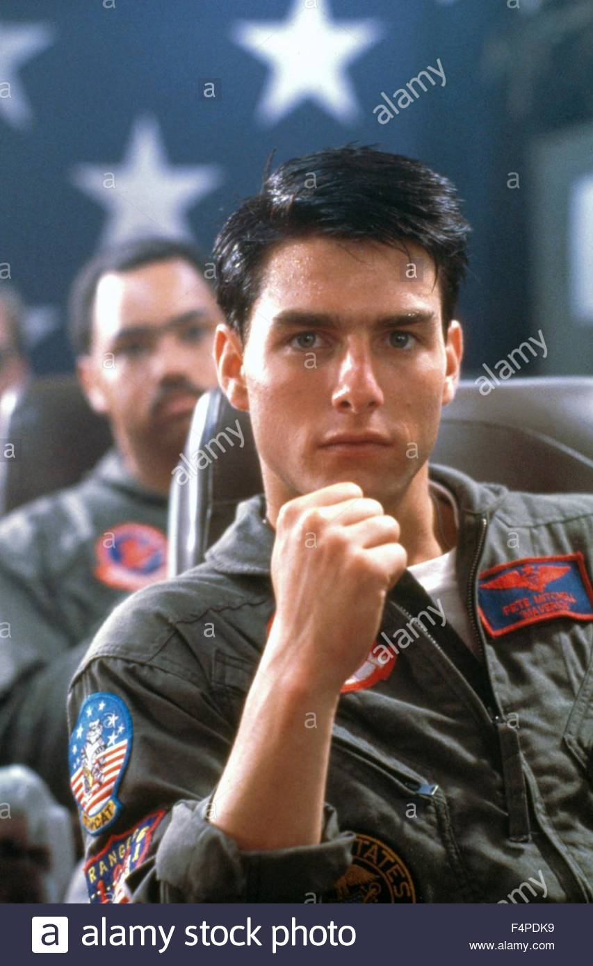 Tom Cruise / Top Gun 1986 directed by Tony Scott - Stock Image