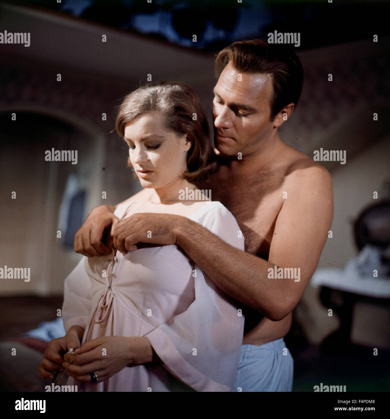 Romy Schneider, Christopher Plummer / Triple Cross 1966 directed by Terence Young - Stock Image