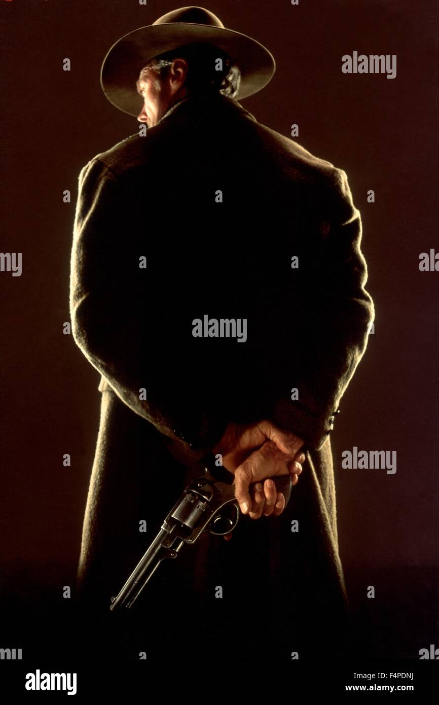 Clint Eastwood / Unforgiven 1992 directed by Clint Eastwood - Stock Image