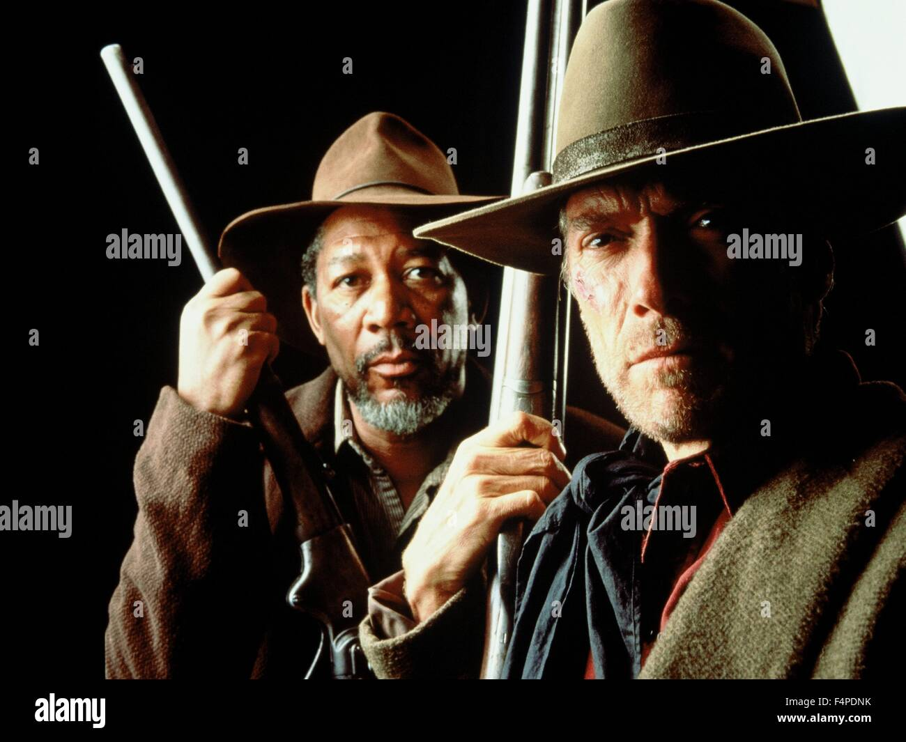 Morgan Freeman, Clint Eastwood / Unforgiven 1992 directed by Clint Eastwood - Stock Image