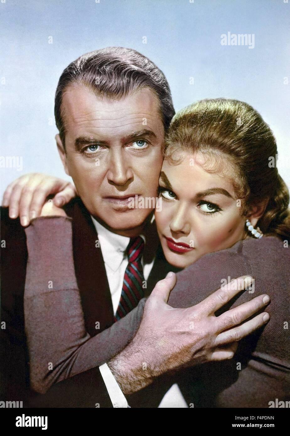 James Stewart, Kim Novak / Vertigo 1958 directed by Alfred Hitchcock - Stock Image