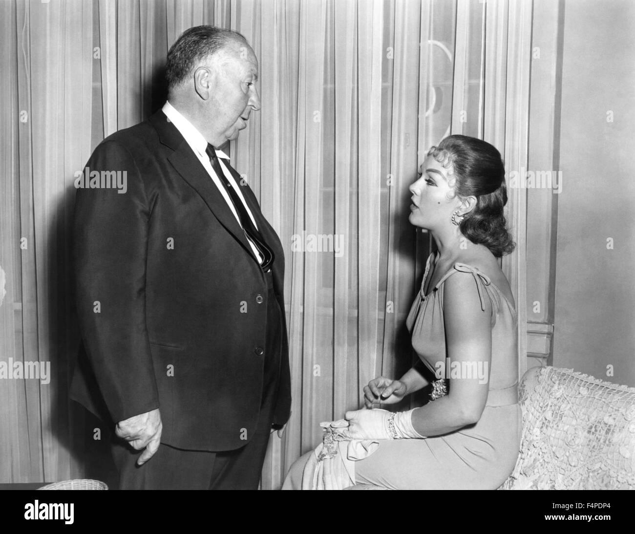 Alfred Hitchcock, Kim Novak / Vertigo 1958 directed by Alfred Hitchcock - Stock Image