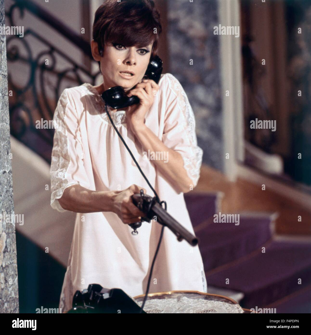 Audrey Hepburn / Wait Until Dark 1967 directed by Terence Young - Stock Image