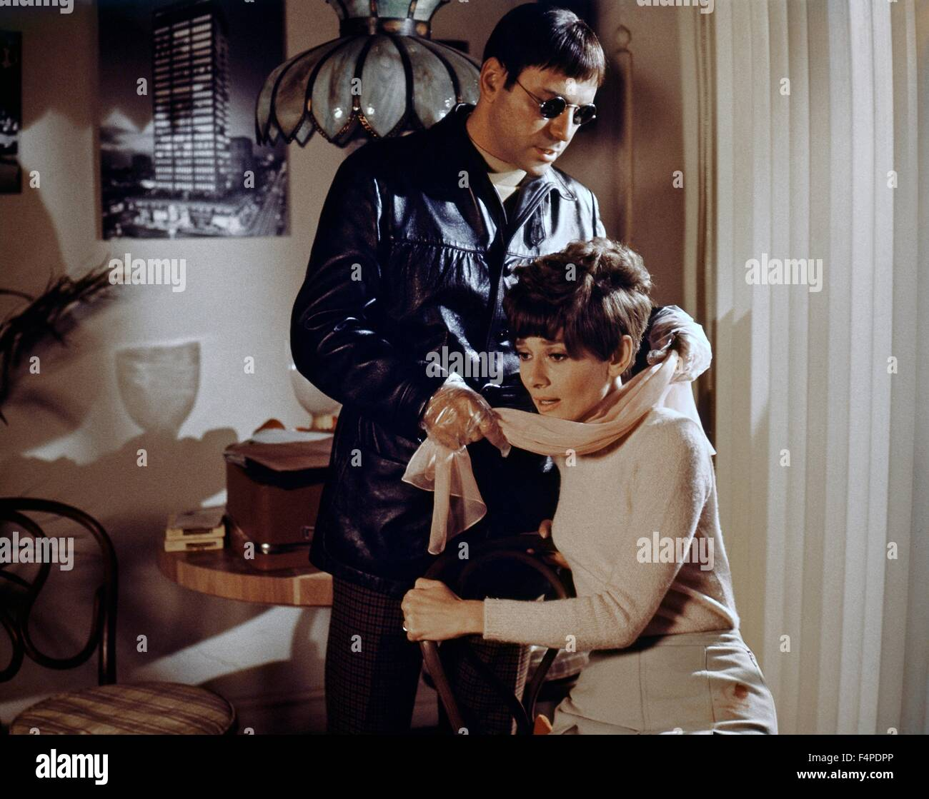 Alan Arkin, Audrey Hepburn / Wait Until Dark 1967 directed by Terence Young - Stock Image