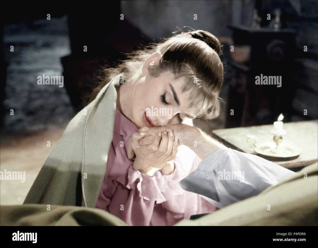 Audrey Hepburn / War And Peace 1956 directed by King Vidor - Stock Image