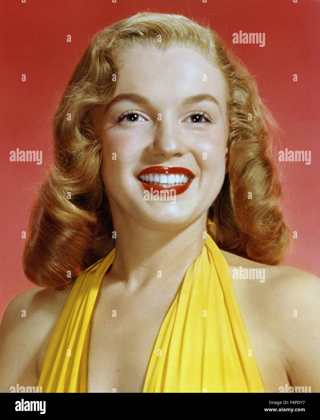 Close-up portrait of Marilyn Monroe in 1946 - Stock Image