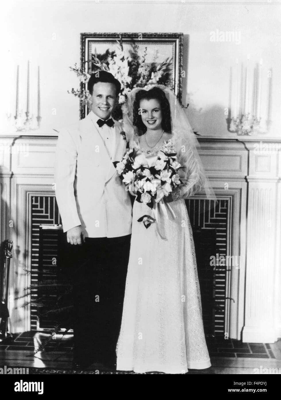 Mariage of Marilyn Monroe and James Dougherty - Stock Image