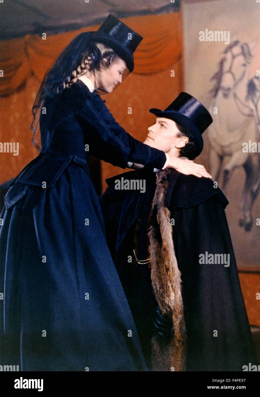Romy Schneider and Helmut Berger / Ludwig : The Mad King of Bavaria / 1972 directed by Luchino Visconti Stock Photo
