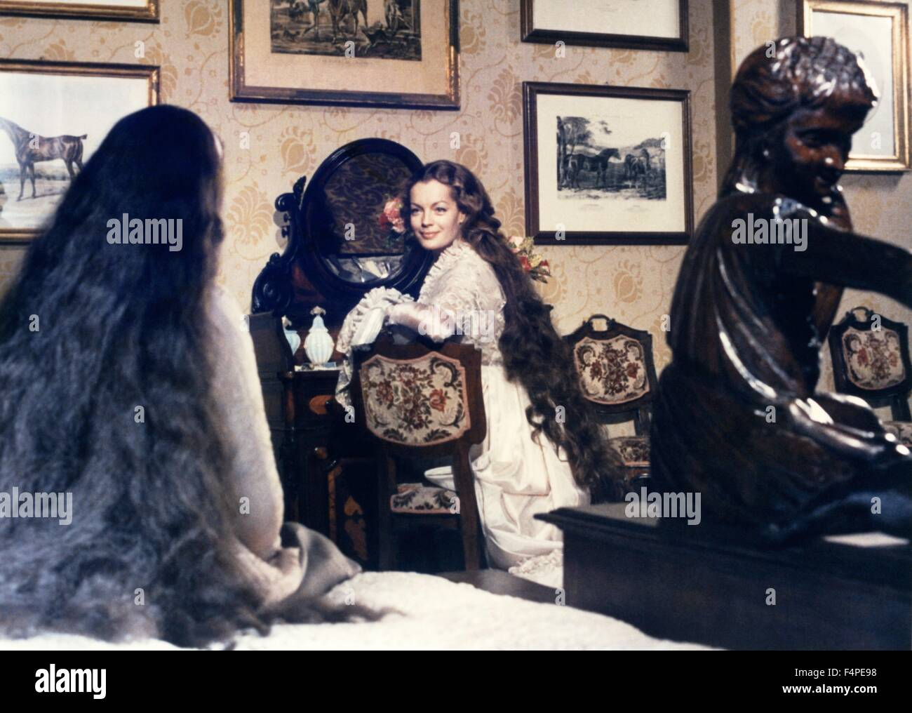 Romy Schneider / Ludwig : The Mad King of Bavaria / 1972 directed by Luchino Visconti - Stock Image