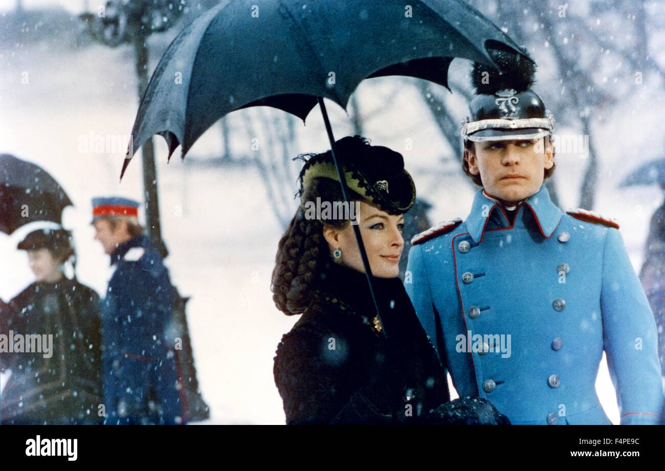 Romy Schneider and Helmut Berger / Ludwig : The Mad King of Bavaria / 1972 directed by Luchino Visconti - Stock Image