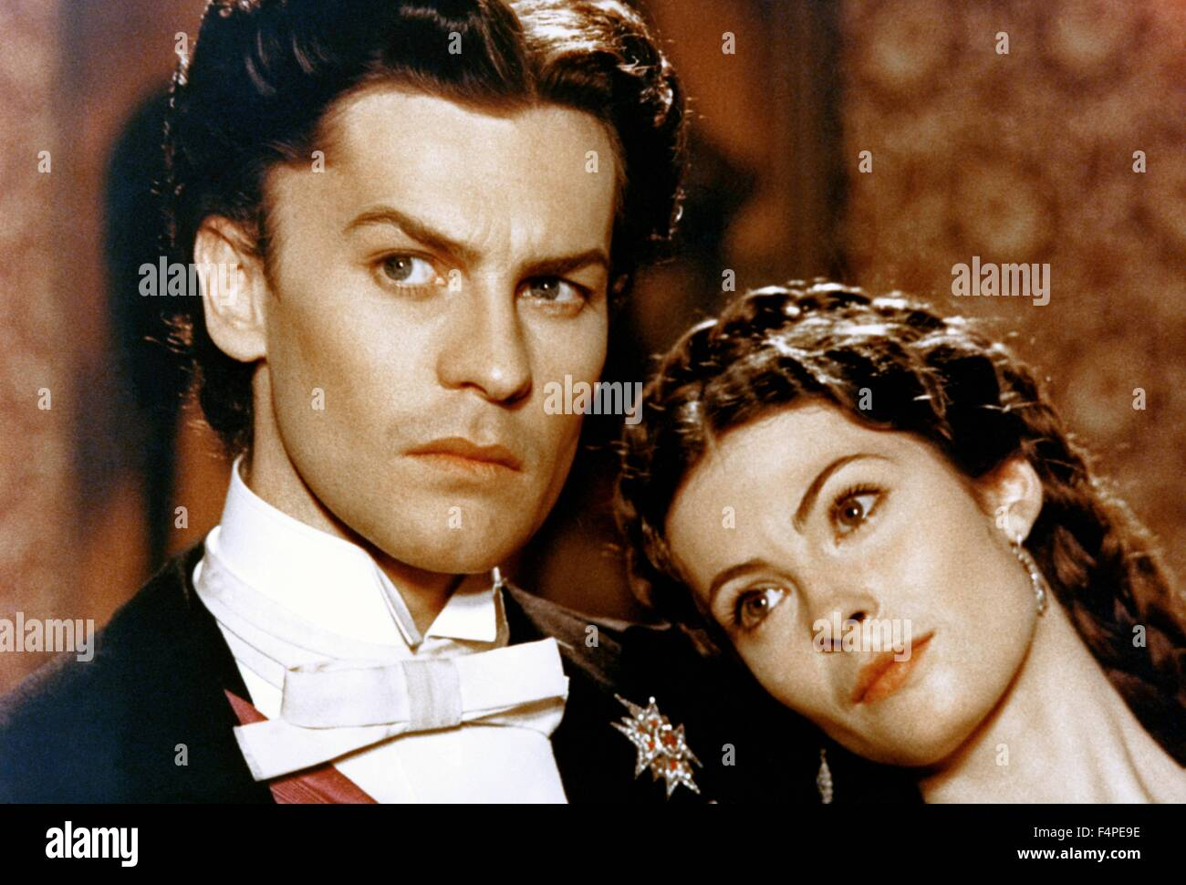 Helmut Berger and Sonia Petrova/ Ludwig : The Mad King of Bavaria / 1972 directed by Luchino Visconti - Stock Image