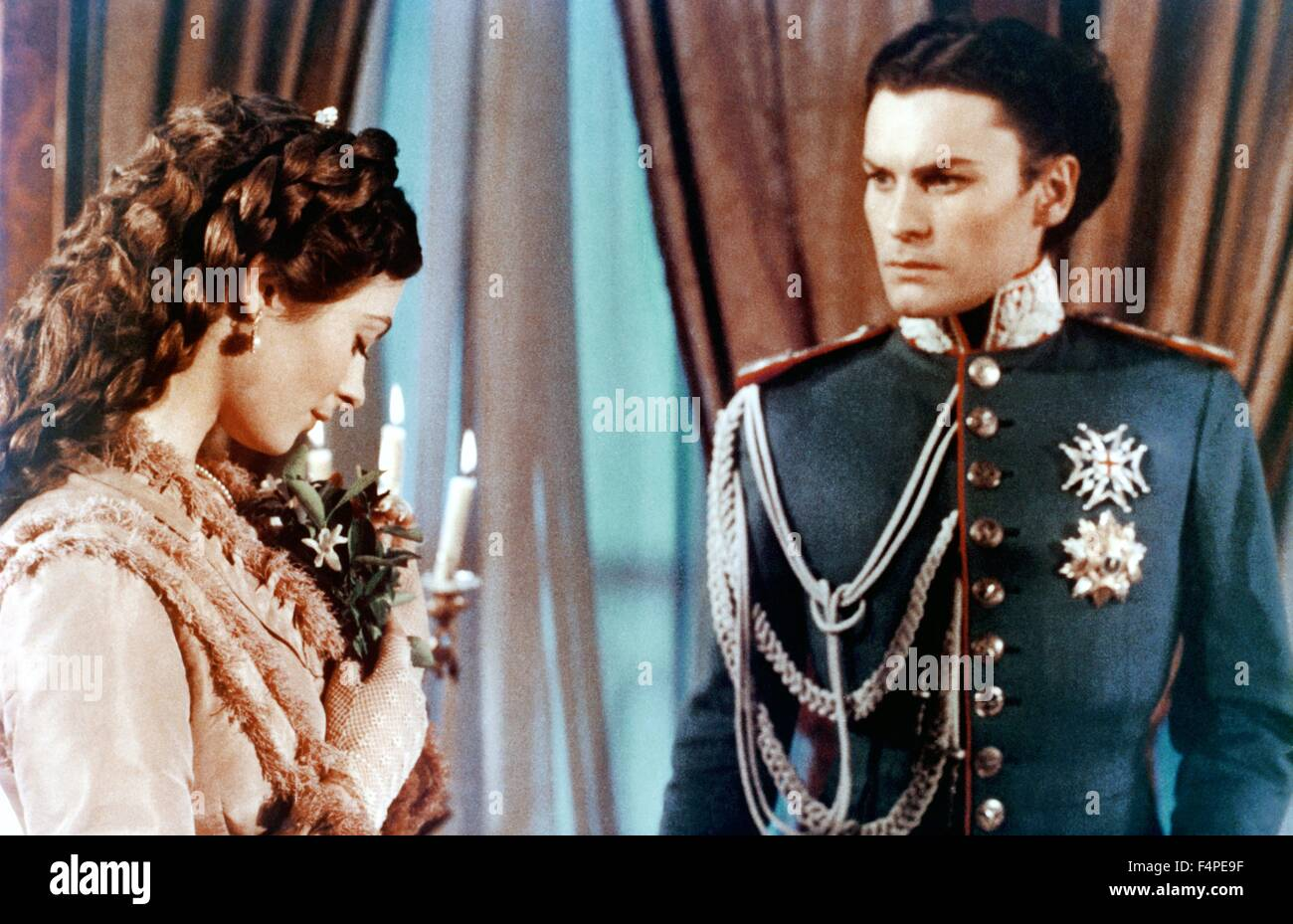 Sonia Petrova and Helmut Berger / Ludwig : The Mad King of Bavaria / 1972 directed by Luchino Visconti - Stock Image