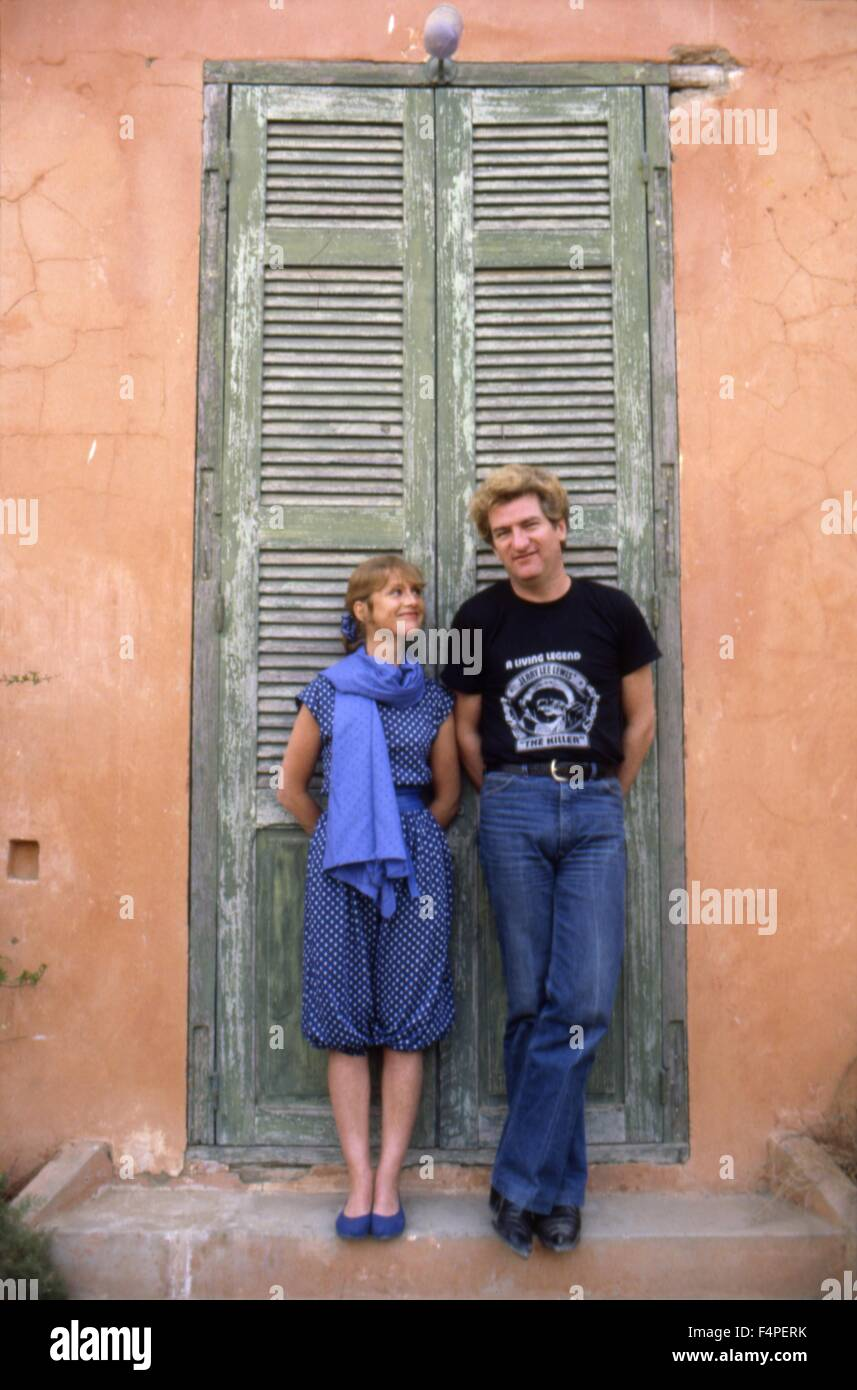 On the set isabelle huppert and eddy mitchell coup de torchon stock photo 89005047 alamy - Isabelle huppert coup de torchon ...