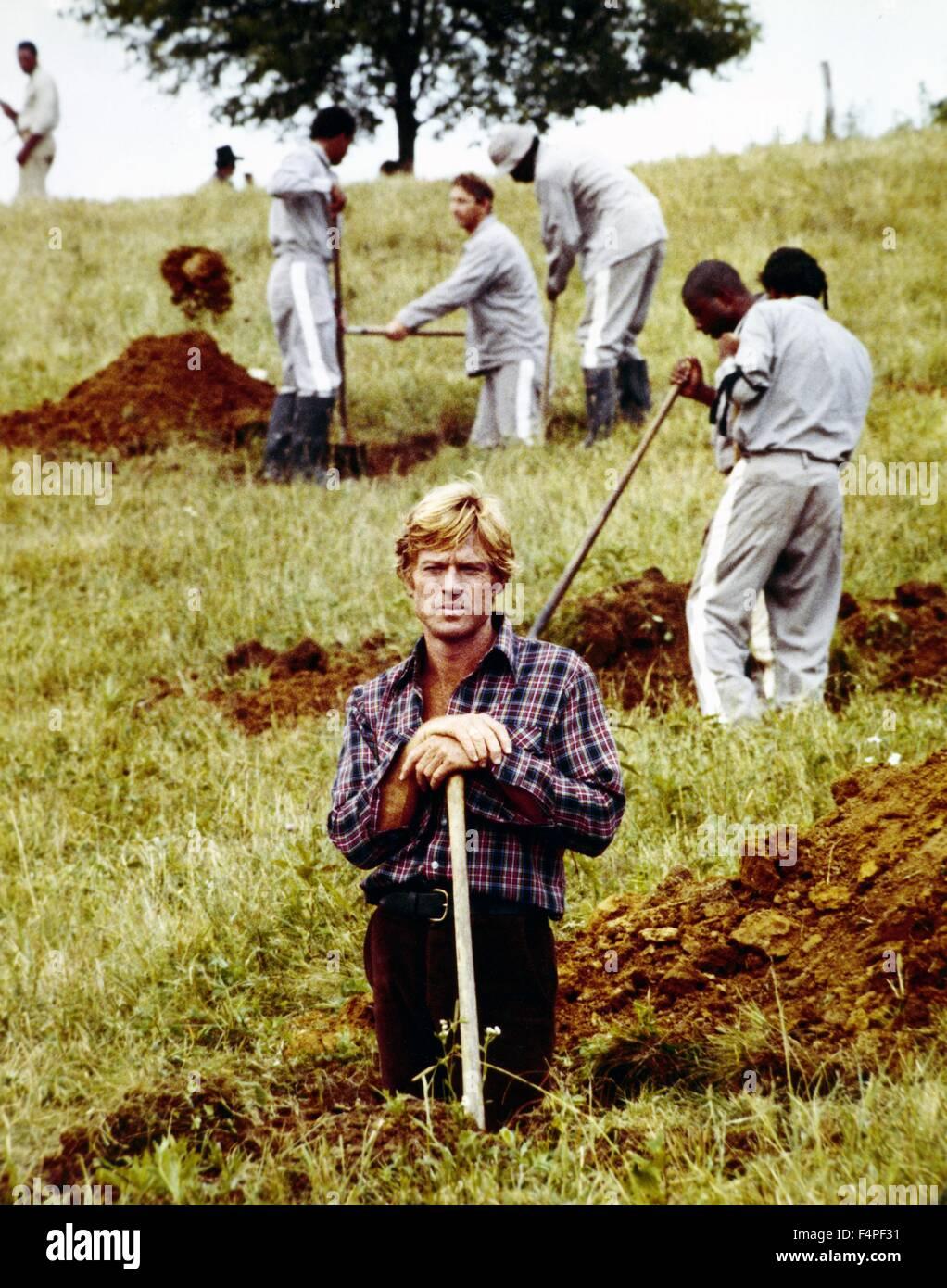 Robert Redford / Brubaker / 1980, directed by Stuart Rosenberg - Stock Image