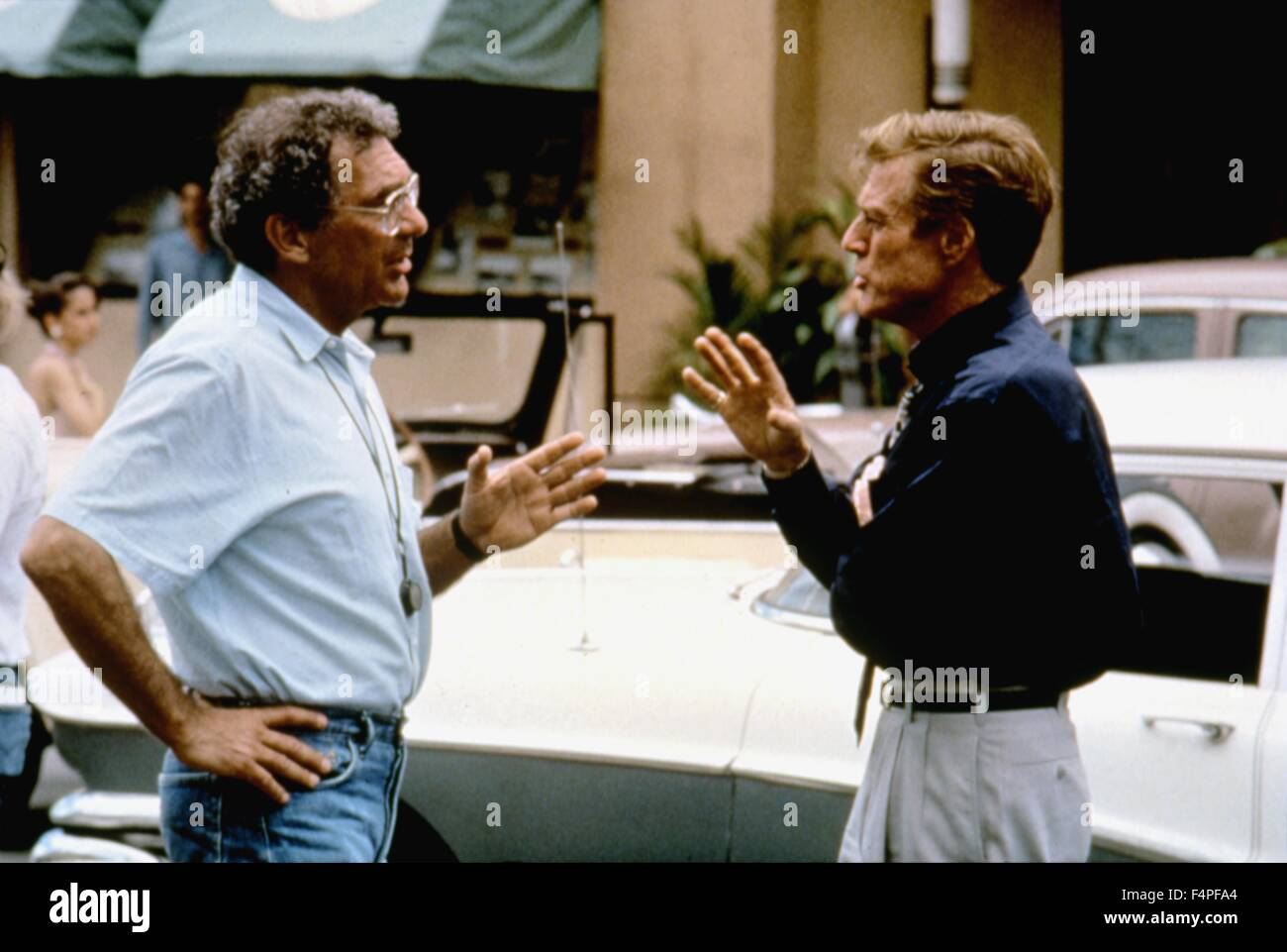 On the set, Sydney Pollack directs Robert Redford / Havana / 1990 directed by par Sydney Pollack - Stock Image