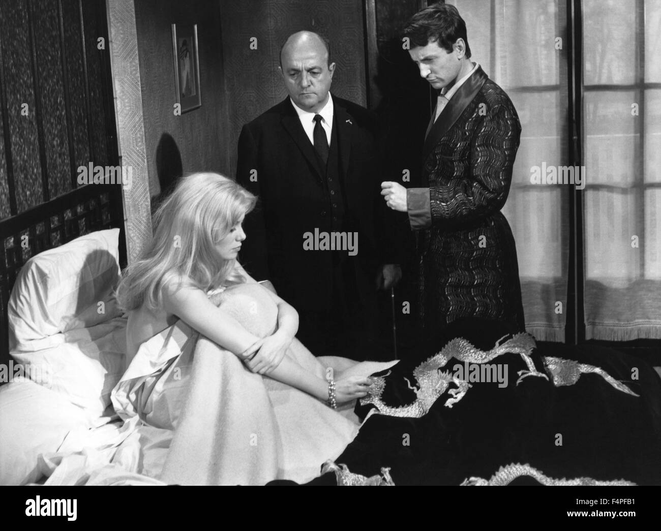 Catherine Deneuve, Bernard Blier and Claude Rich / Male Hunt / 1964 directed by Edouard Molinaro - Stock Image