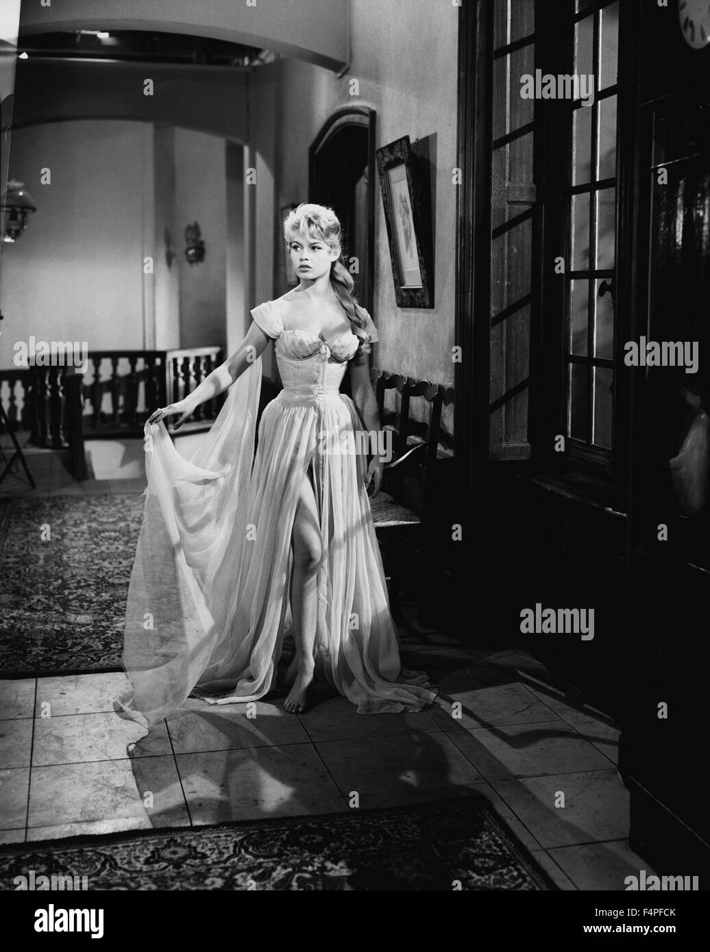 Brigitte Bardot / The Bride Is Too Beautiful / 1956 directed by Pierre Gaspard-Huit - Stock Image