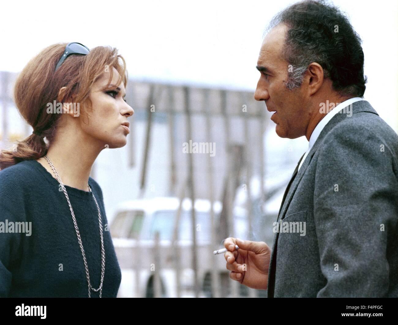 Lea Massari and Michel Piccoli / Les choses de la vie / 1969 directed by Claude Sautet - Stock Image