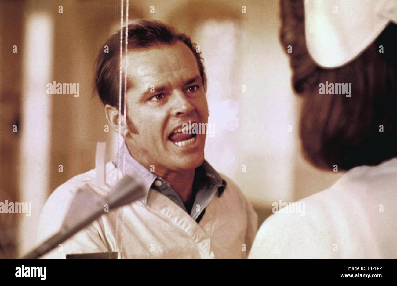 Jack Nicholson / One Flew Over the Cuckoo's Nest / 1975 directed by Milos Forman Stock Photo