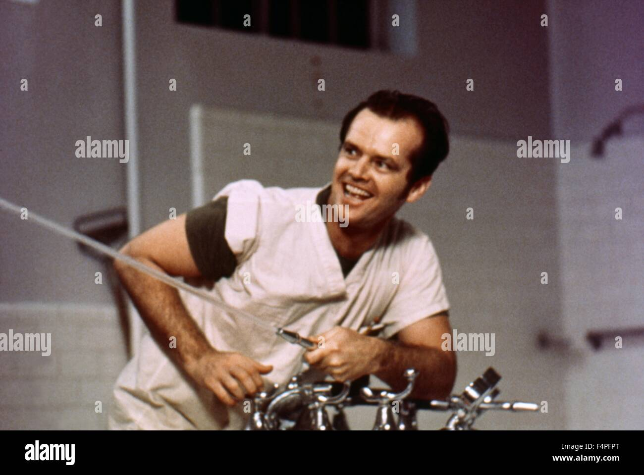 Jack Nicholson / One Flew Over the Cuckoo's Nest / 1975 directed by Milos Forman - Stock Image