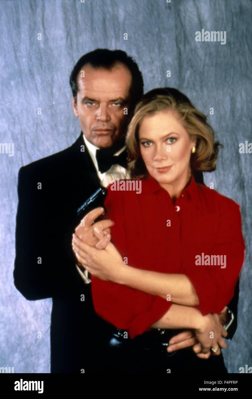 Jack Nicholson and Kathleen Turner / Prizzi's Honor / 1985 directed by John Huston - Stock Image