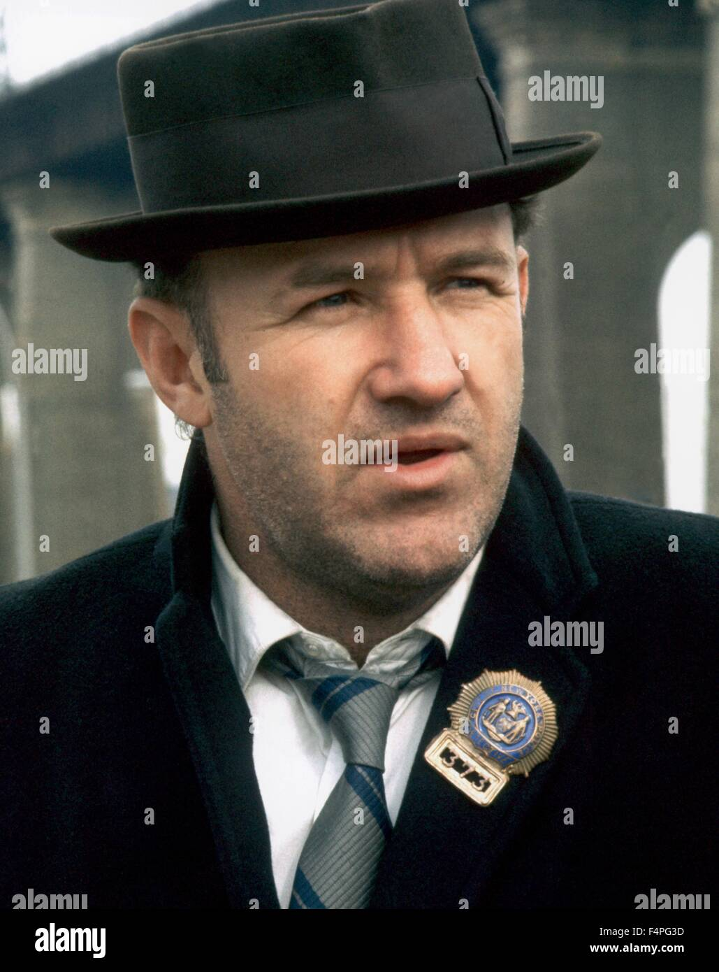 Gene Hackman / The French Connection / 1971 directed by William Friedkin - Stock Image
