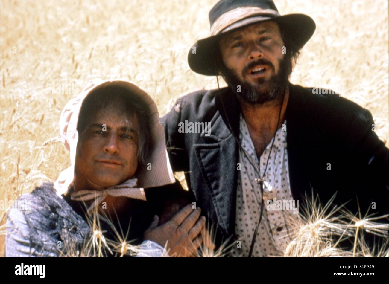 Marlon Brando and Jack Nicholson / The Missouri Breaks / 1976 directed by  Arthur Penn - Stock Image