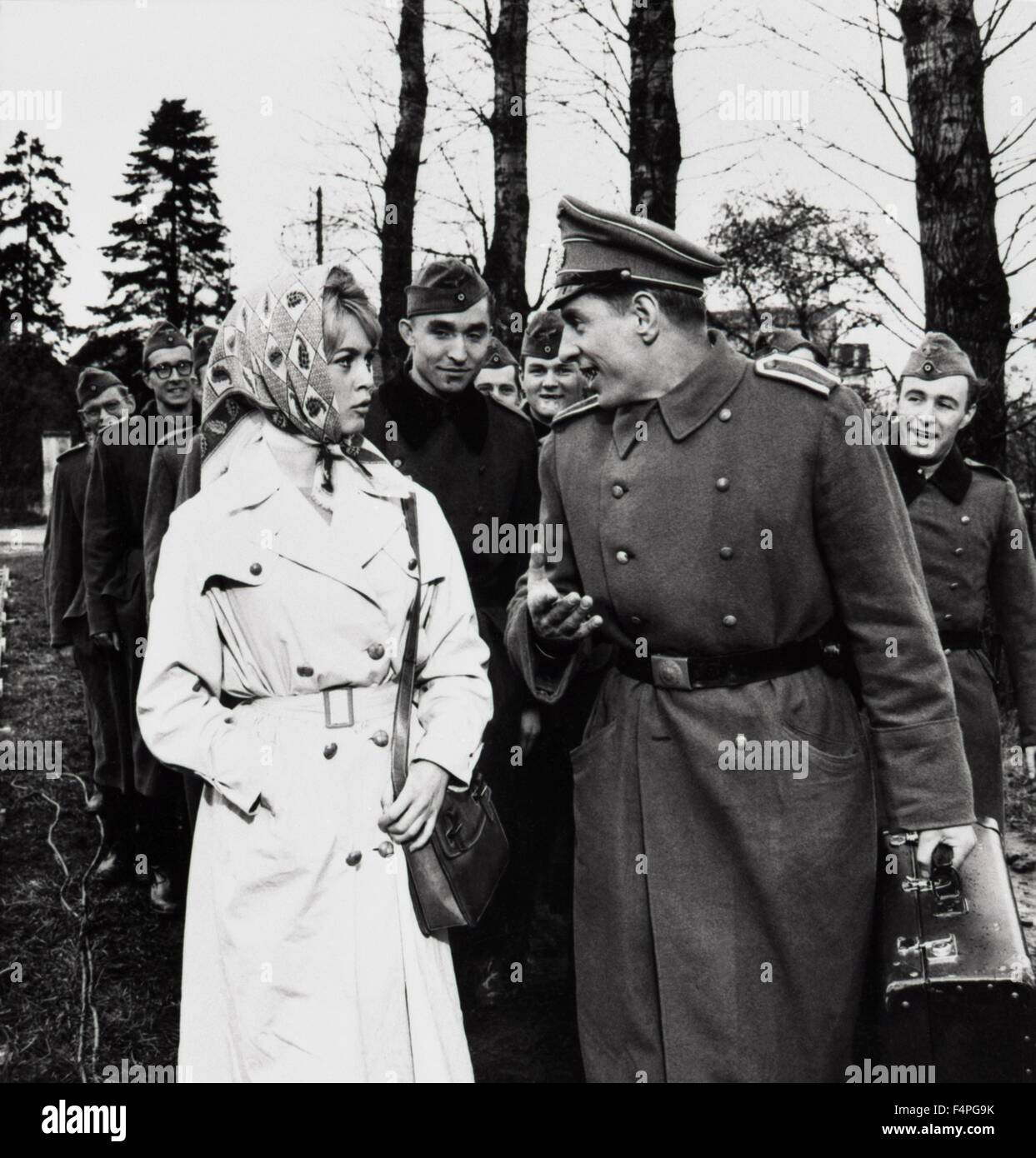 brigitte bardot babette goes to war 1959 directed by stock photo