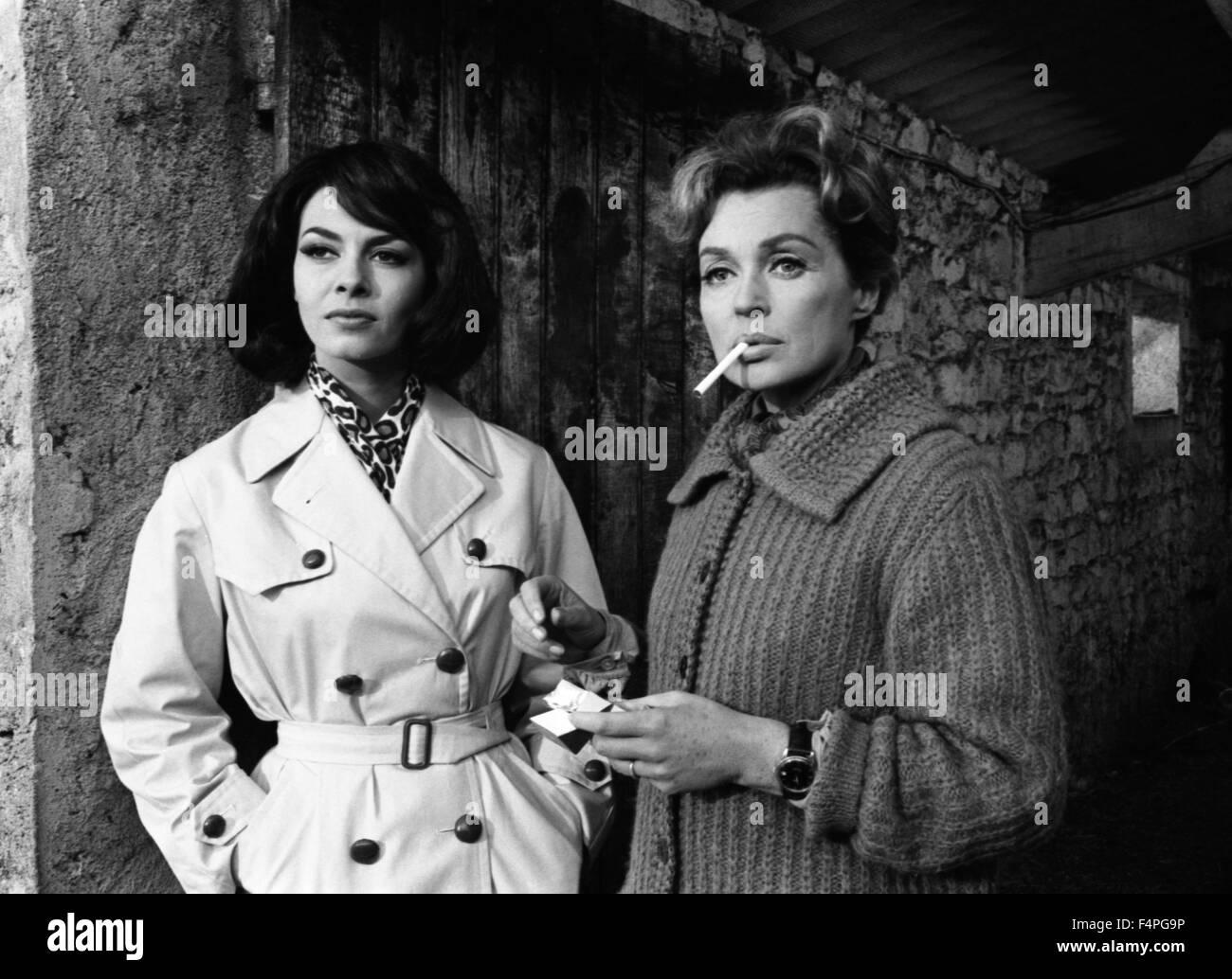Michèle Mercier and Lilli Palmer / God's Thunder / 1965 directed by Denys de La Patellière - Stock Image