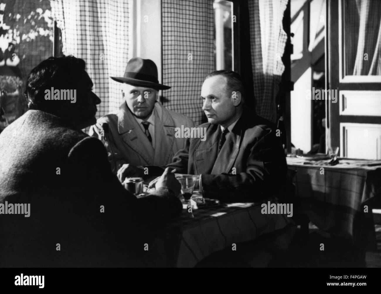Roger Duschene / Bob le flambeur  / 1956 directed by Jean-Pierre Melville - Stock Image
