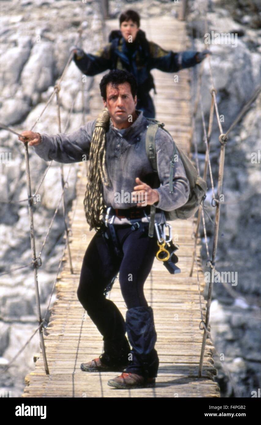 Sylvester Stallone / Cliffhanger / 1993 directed by Renny Harlin - Stock Image