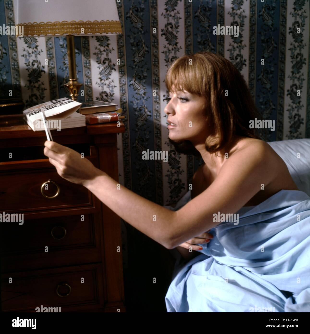 stephane audran the unfaithful wife 1969 directed by claude stock photo 89006579 alamy. Black Bedroom Furniture Sets. Home Design Ideas