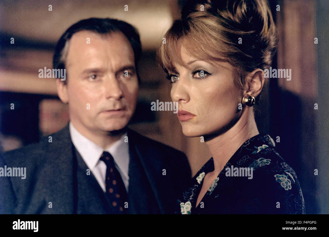 Michel Bouquet and Stephane Audran / The Unfaithful Wife / 1969 directed by Claude Chabrol - Stock Image
