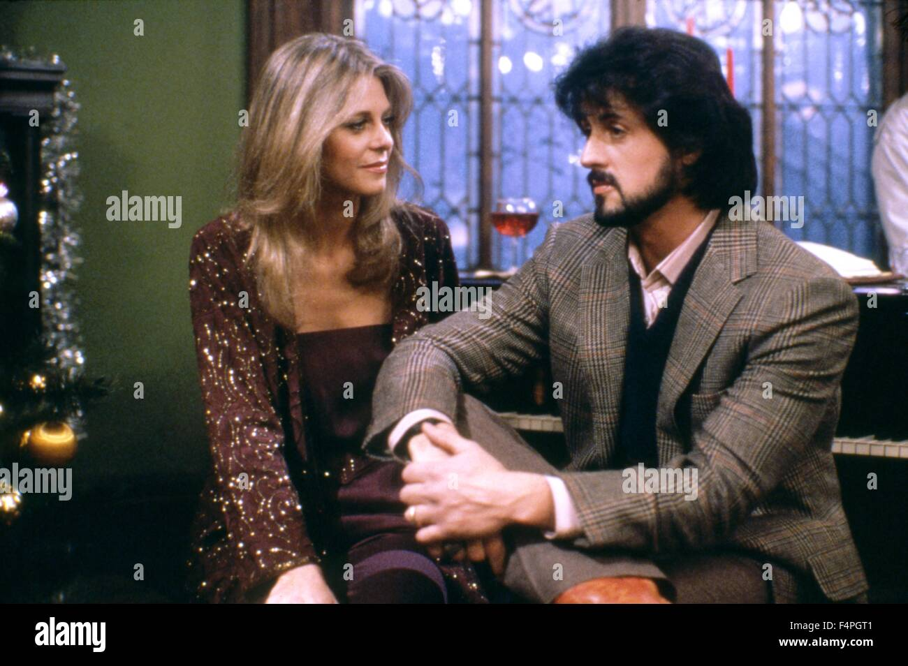 Lindsay Wagner and Sylvester Stallone / Nighthawks / 1981 directed by Bruce Malmuth - Stock Image