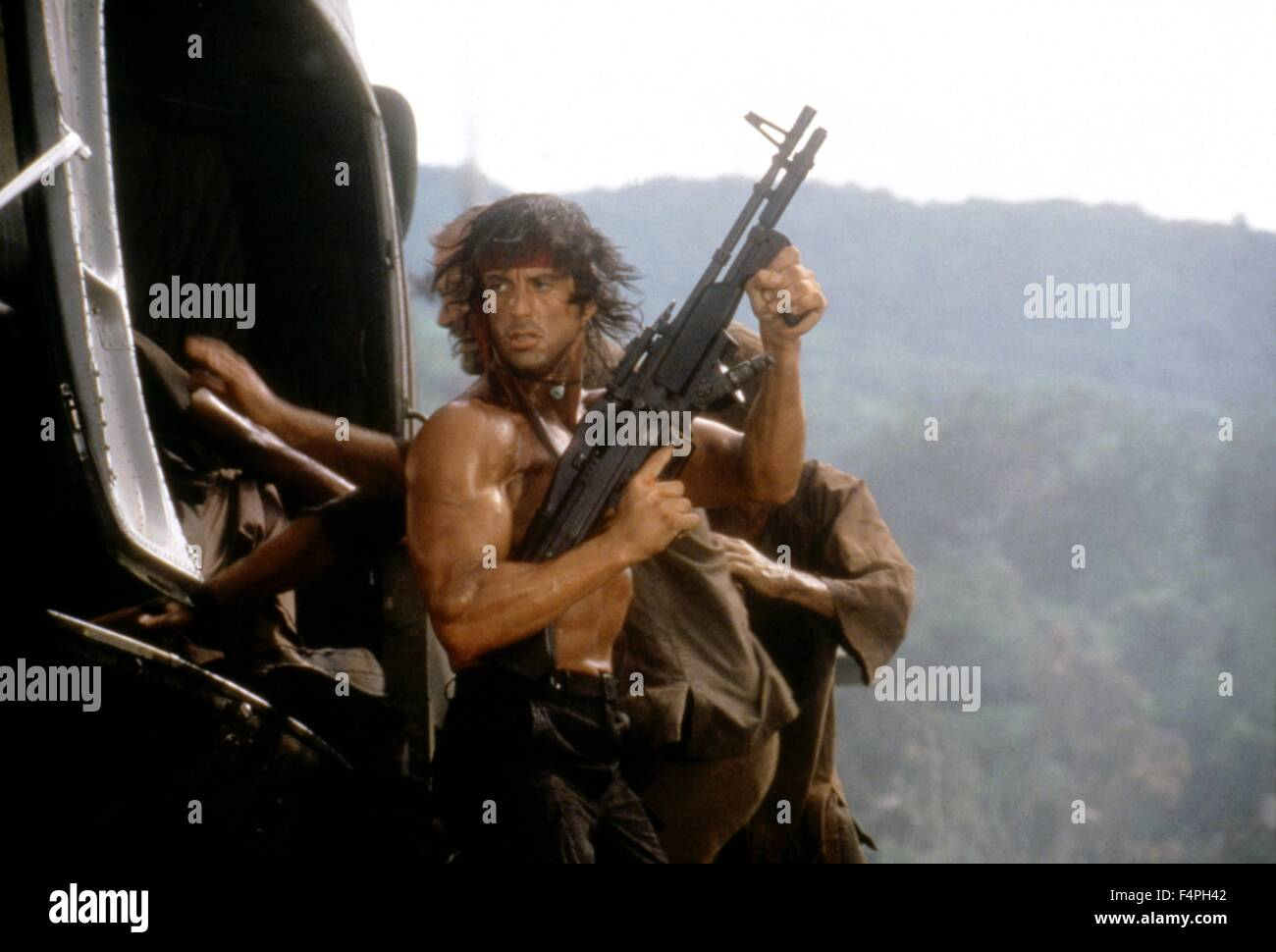 Sylvester Stallone / Rambo: First Blood Part II / 1985 directed by George P. Cosmatos - Stock Image