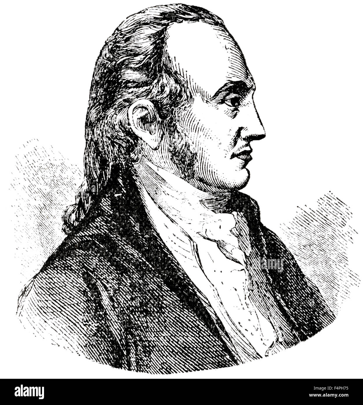 Aaron Burr (1756-1836), American Politician and 3rd Vice President, Engraving, 1889 - Stock Image
