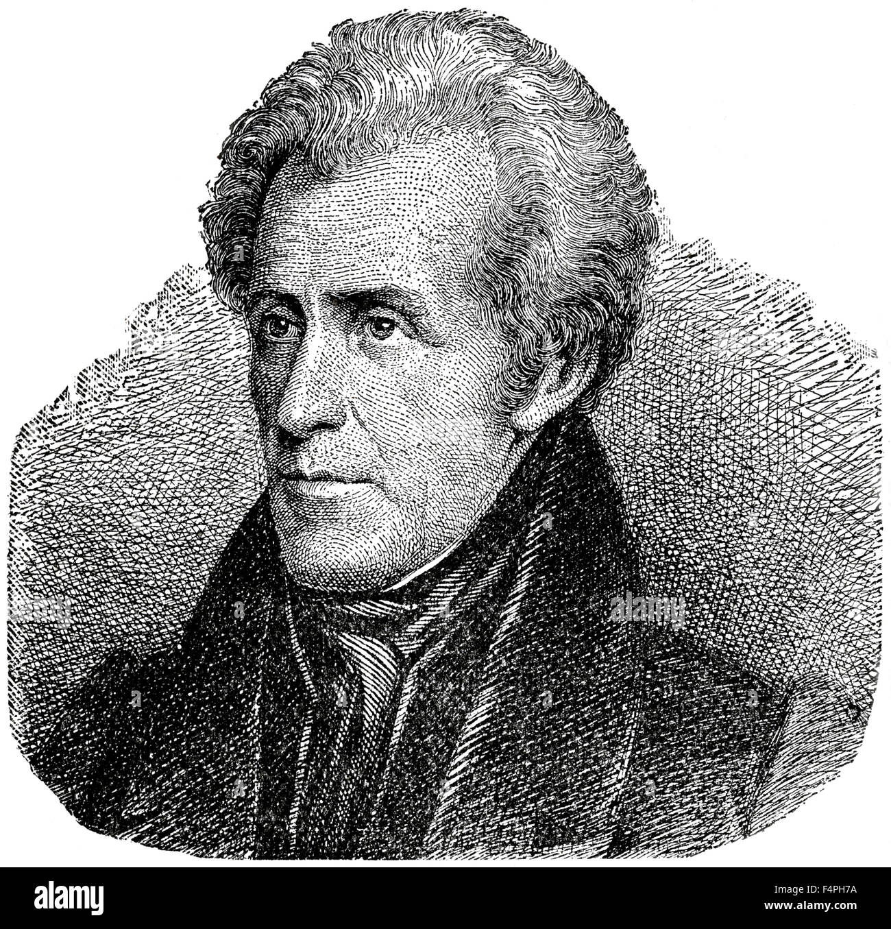 Andrew Jackson (1767-1845), 7th President of the United States, Engraving, 1889 - Stock Image