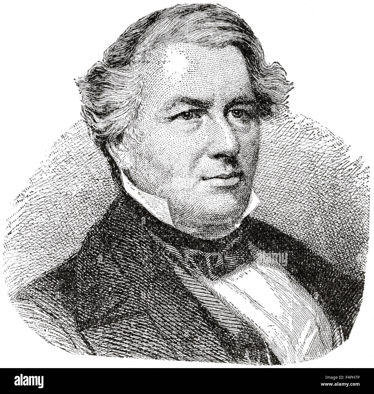 Millard Fillmore (1800-74), 13th President of the United States, Engraving, 1889 Stock Photo