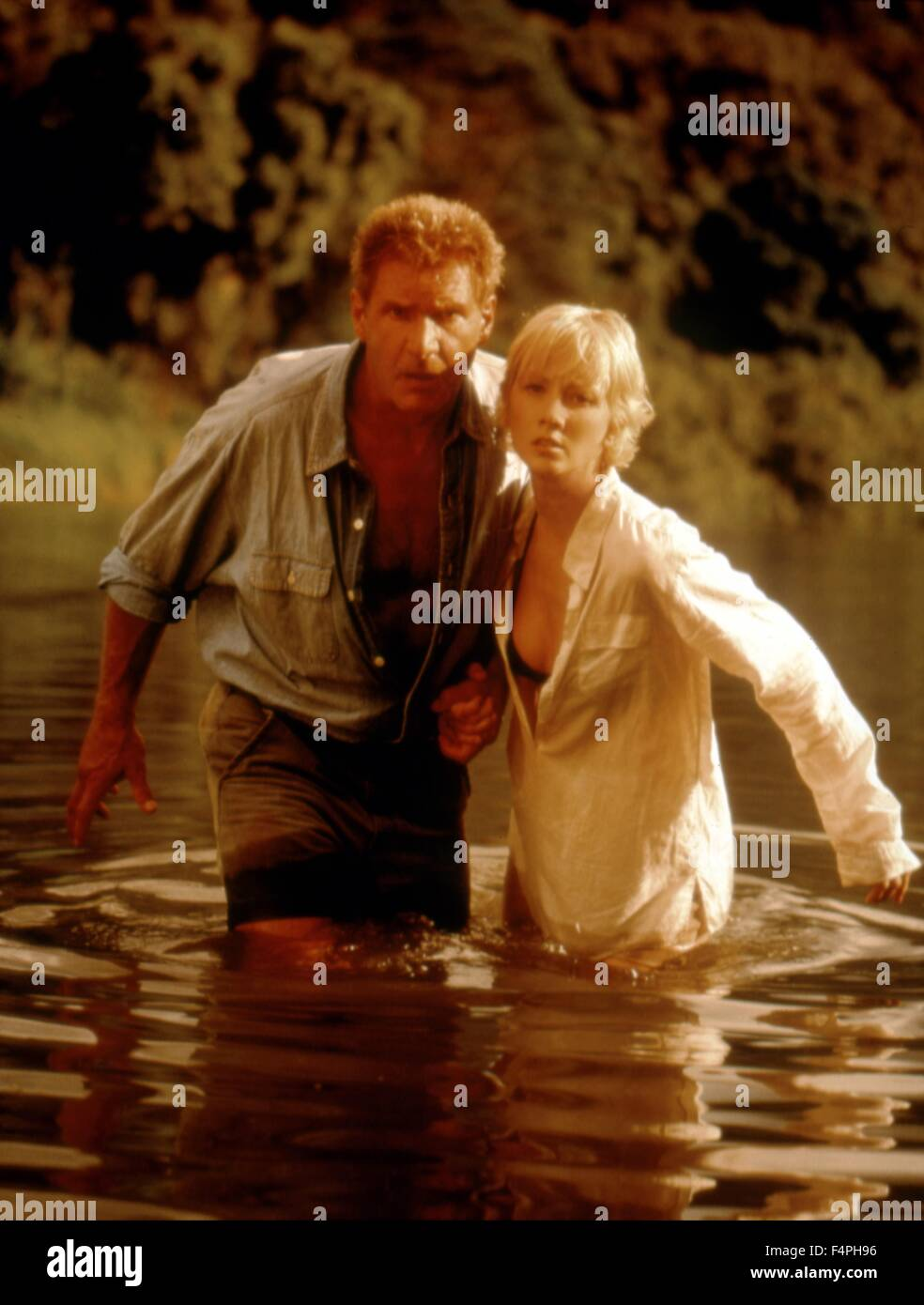 Harrison Ford and Anne Heche / Six Days Seven Nights / 1998 directed by Ivan Reitman - Stock Image