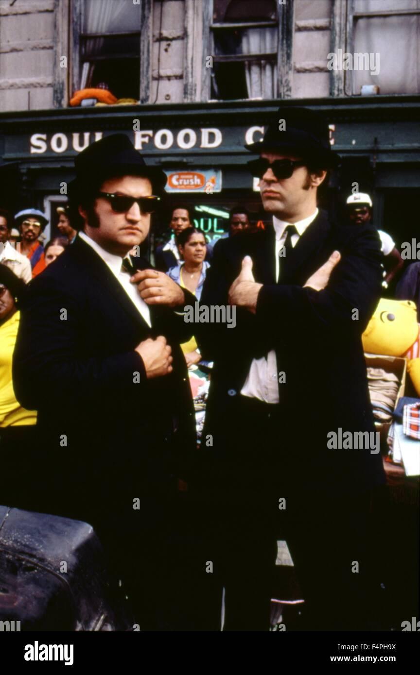 John Belushi and Dan Aykroyd / The blues Brothers / 1980 directed by John Landis - Stock Image