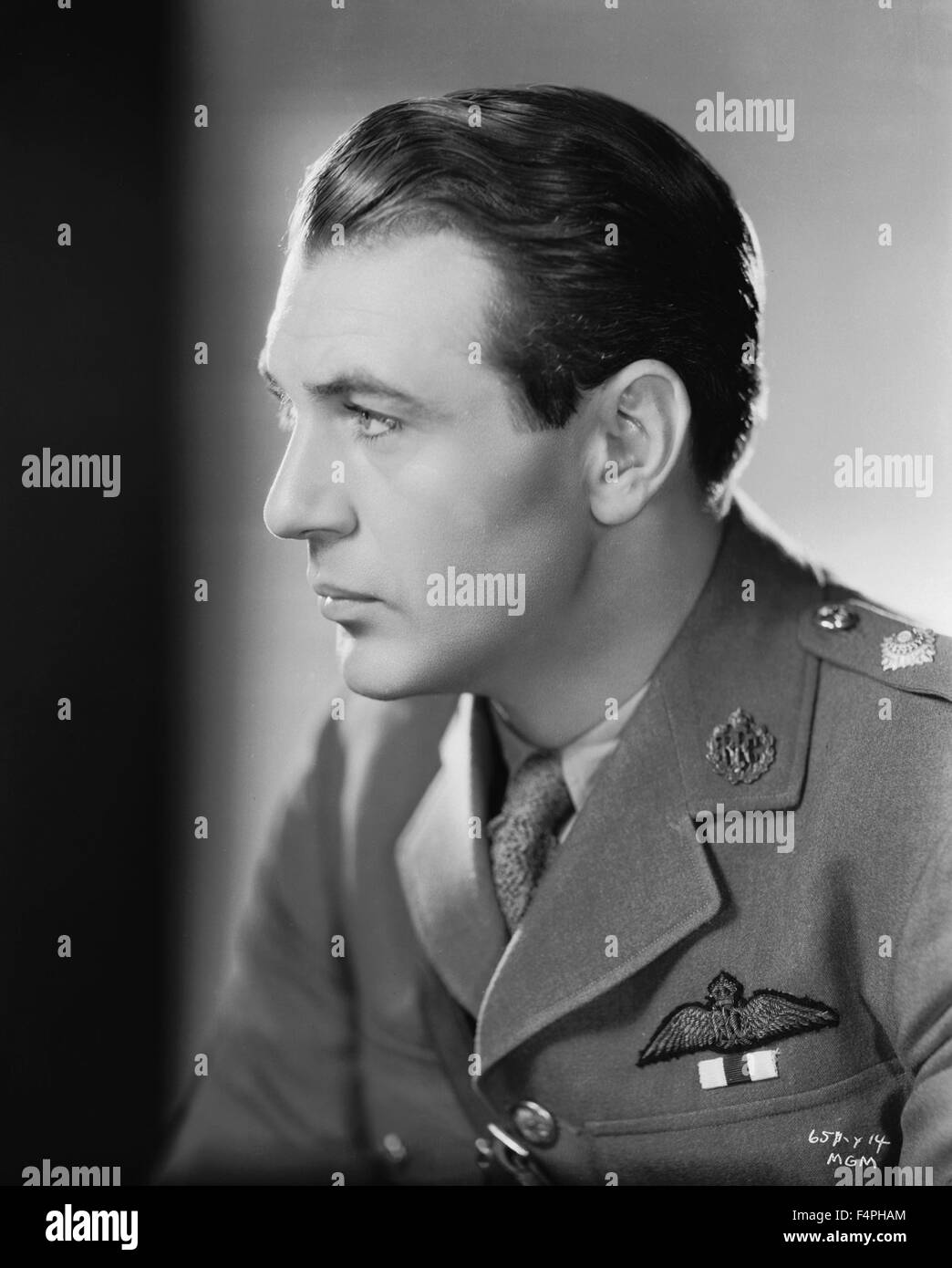 Gary Cooper / Today we live / 1933 directed by Howard Hawks - Stock Image